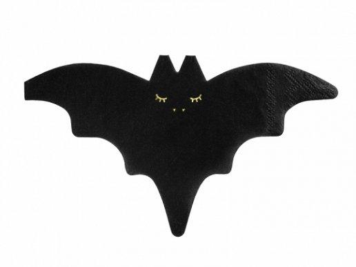 Νυχτερίδα Μαύρες Χαρτοπετσέτες Με Σχήμα (20τμχ)