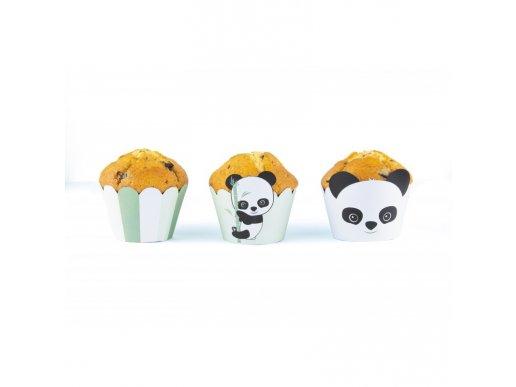 Panda Cupcake Wrappers (6pcs)