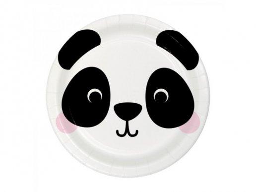 Panda Small Paper Plates (8pcs)