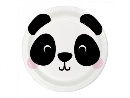 Panda Large Paper Plates (8pcs)