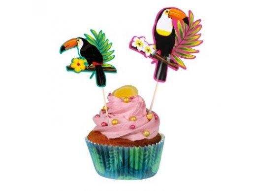 Toucan Parrots Decorative Picks (4pcs)