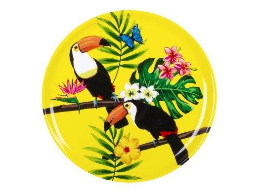 Toucan Parrots Plastic Tray (34,5cm)