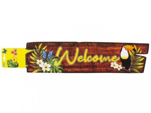 Παπαγάλοι Τουκάν Welcome Ταμπέλα (13εκ x 60εκ)