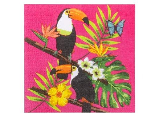 Παπαγάλοι Τουκάν Χαρτοπετσέτες (12τμχ)