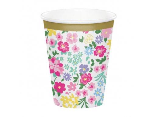 Floral Tea Party Paper Cups (8pcs)