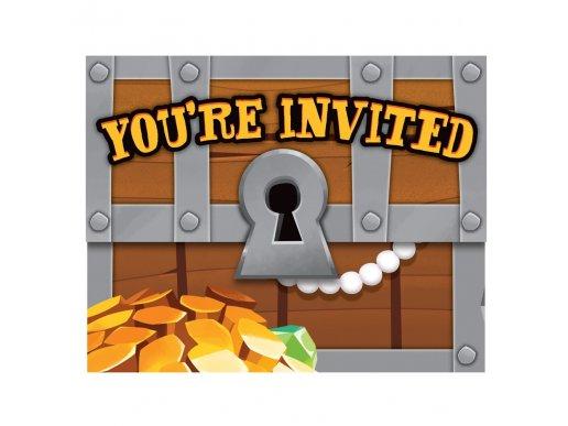 Pirate Treasure Invitations 8/pcs