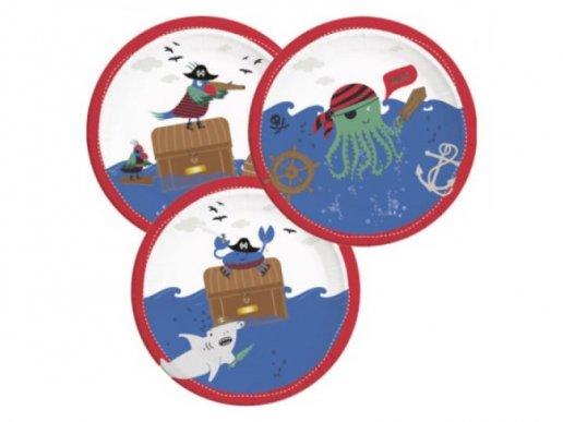 Πειρατές στη Θάλασσα Μεγάλα Χάρτινα Πιάτα 8τμχ