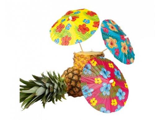 Colorful Hibiscus Decorative Picks (6pcs)
