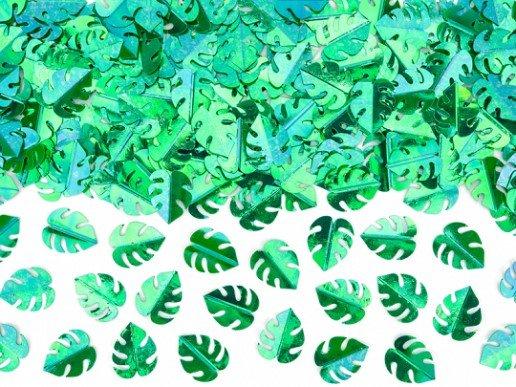 Πράσινα Τροπικά Φύλλα Κομφετί για Το Τραπέζι (15γρ)