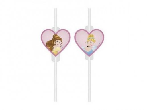 Disney Princess Paper Straws 4pcs