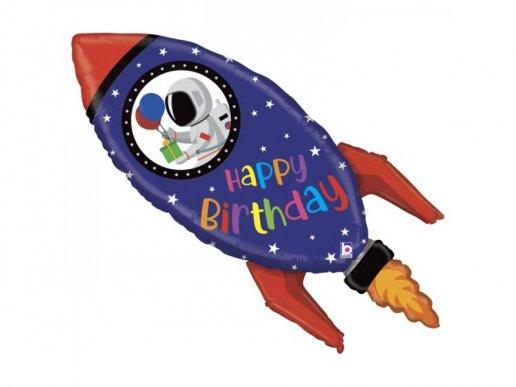 Πύραυλος Supershape Μπαλόνι για Γενέθλια (102εκ)