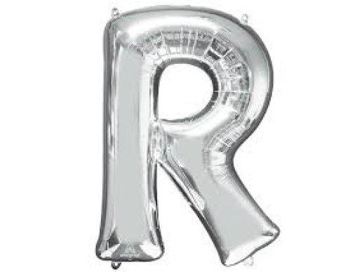 R Μπαλόνι Γράμμα Ασημί (35εκ)