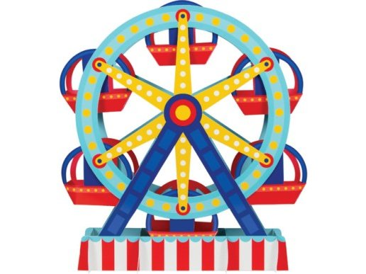 Ferris Wheel Centerpiece (30.4cm x 38.1cm)