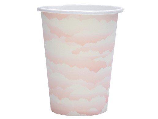 Ροζ Σύννεφα Ποτήρια Χάρτινα (10τμχ)