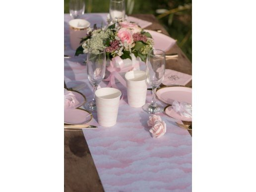 Pink Clouds Runner for the Table (30cm x 5m)