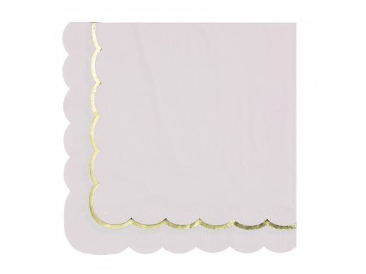 Pink Luncheon Napkins with Gold Foiled Edge (16pcs)