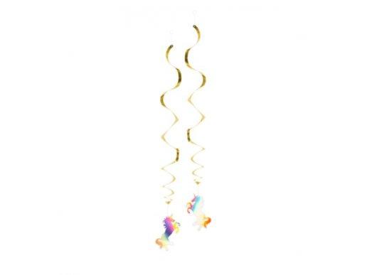 Διακοσμητικά Σπιράλ Χρυσός Μονόκερος που Ιριδίζει (2τμχ)