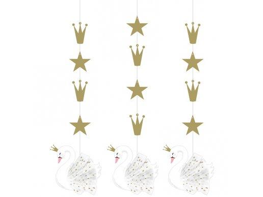 Stylish Swan Hanging Decorations (3pcs)