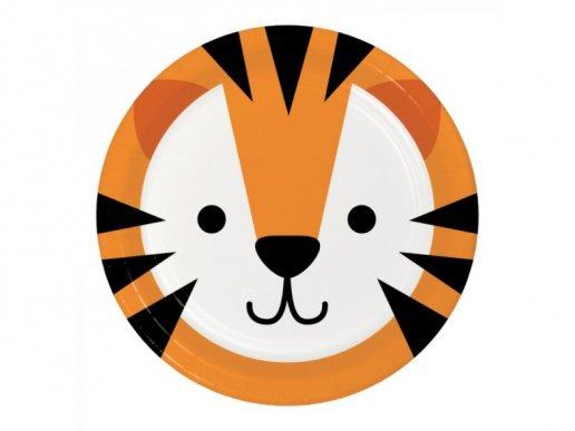 Τίγρης Μικρά Χάρτινα Πιάτα (8τμχ)