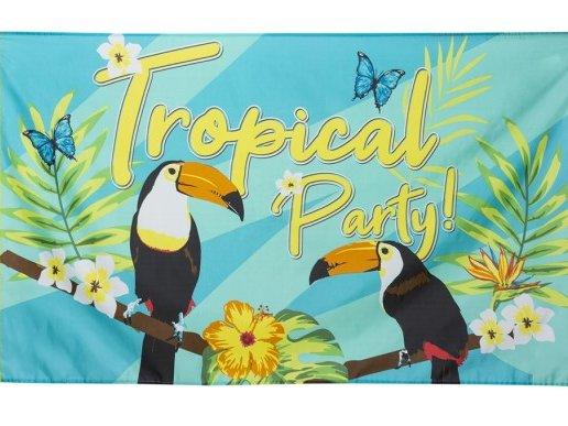 Toucan Parrots Fabric Banner (150cm x 90cm)