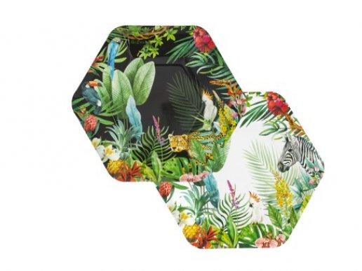 Tropical Jungle Paper Plates (8pcs)
