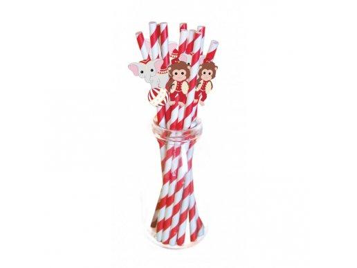 Vintage Circus Paper Straws (10pcs)