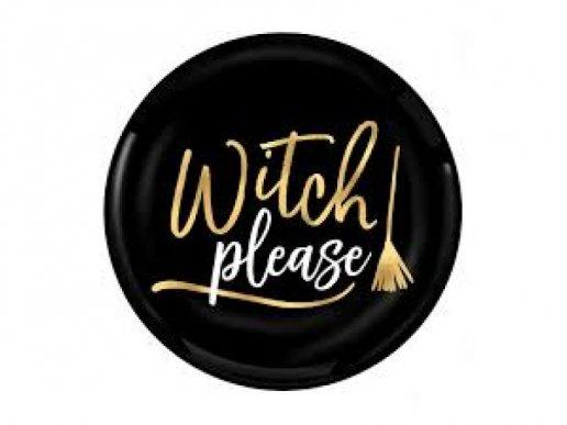 Witch Please Πλαστικά Μικρά Πιάτα 4τμχ