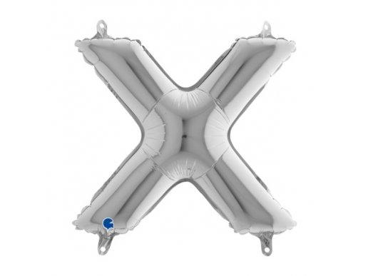 X Letter Balloon Silver (35cm)