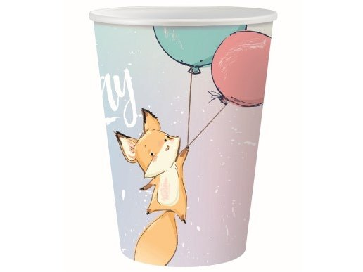 Happy Fox Paper Cups (6pcs)