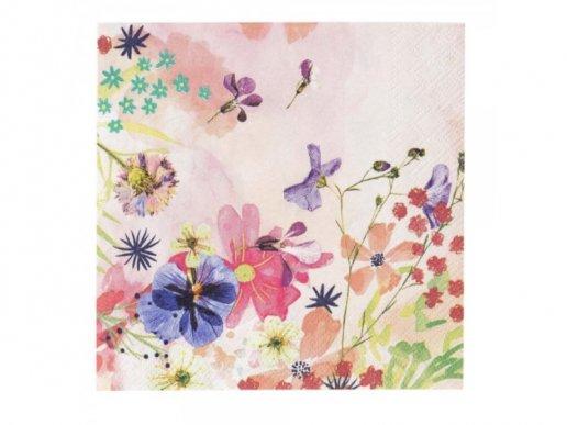 Floral Beverage Napkins 20pcs