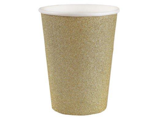 Χρυσά Γκλιτεράτα Ποτήρια Χάρτινα (10τμχ)
