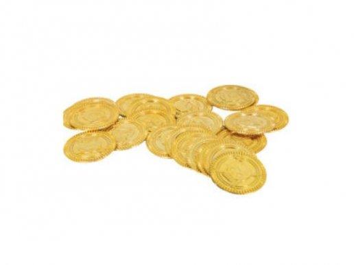 Χρυσά Πειρατικά Πλαστικά Νομίσματα 30τμχ