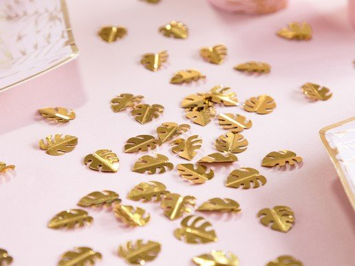 Gold Tropical Leaves Confettis (15g)