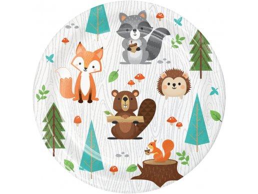 Ζωάκια Του Δάσους Μικρά Πιάτα Χάρτινα (8τμχ)