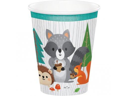 Wild Animals Paper Cups (8pcs)