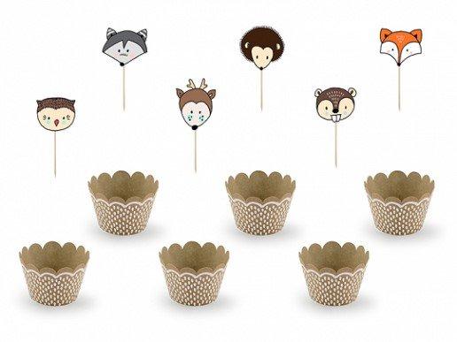 Ζωάκια του Δάσους Σετ για Cupcakes (12τμχ)