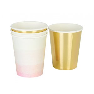 We Love Pink paper cups (12pcs)