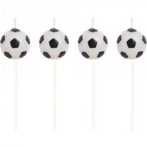 Κεριά Για Τούρτα Μπάλες Ποδοσφαίρου 4τμχ