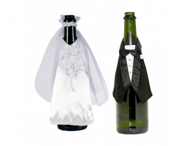 Bottles Clothing Bride and Groom