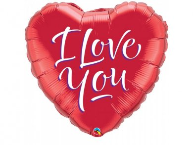 Big red heart foil balloon I Love You
