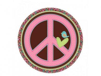 Hippie Chic Large Paper Plates (8pcs)