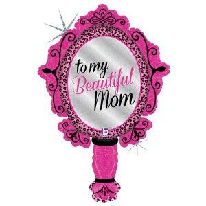 Καθρέφτης Φούξια Μπαλόνι Foil To My Beautifoul Mom - Στην Όμορφη Μαμά Μου