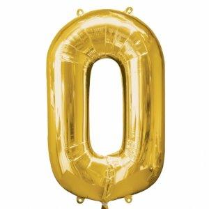 Supershape Μπαλόνι Αριθμός 0 Χρυσό (100εκ)