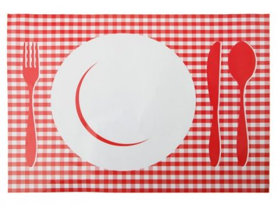Red Placemats (6pcs)