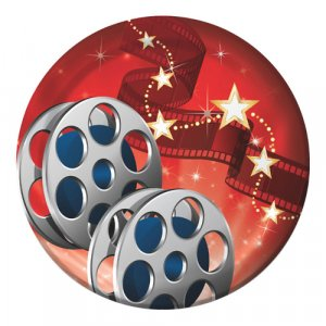 Small Paper Plates Hollywood Lights 8pcs