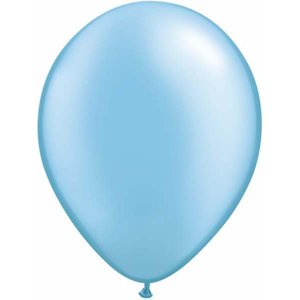 Blue Azzure Pearl Latex Balloons (5pcs)