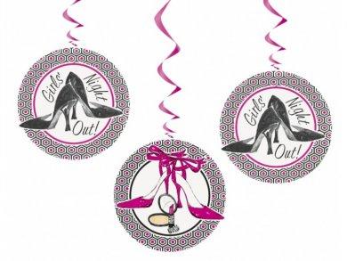 Girls Night Out Swirl Decorations (3pcs)