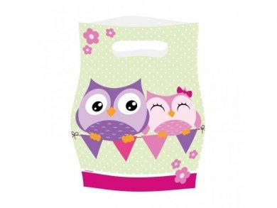 Owl Plastic Loot bags (8pcs)