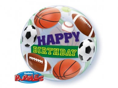 Sports Happy Birthday Bubble Μπαλόνι (56εκ)