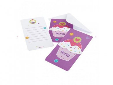 Cupcake Party Invitations (6pcs)